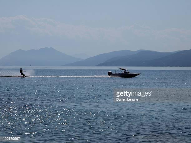 Water skier at Agia Eleni