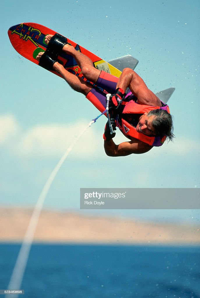 Water Skier Flipping an Air Chair on Lake Mead  Stock Photo & Water Skier Flipping An Air Chair On Lake Mead Stock Photo | Getty ...