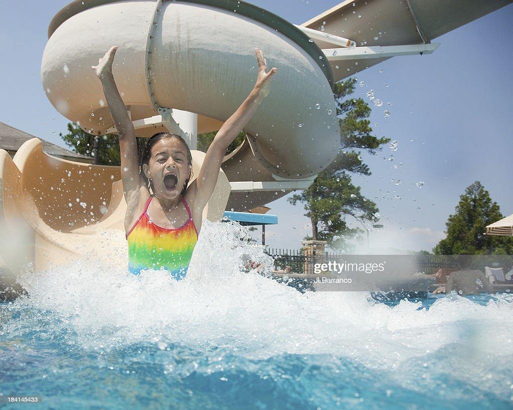 Water Slide Fun : Stock Photo