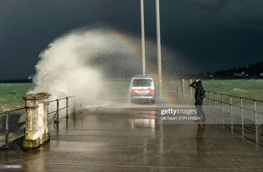 AUSTRIA-EUROPE-WEATHER-STORMS : News Photo