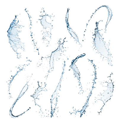 Water splashes isolated on a white background 915645286