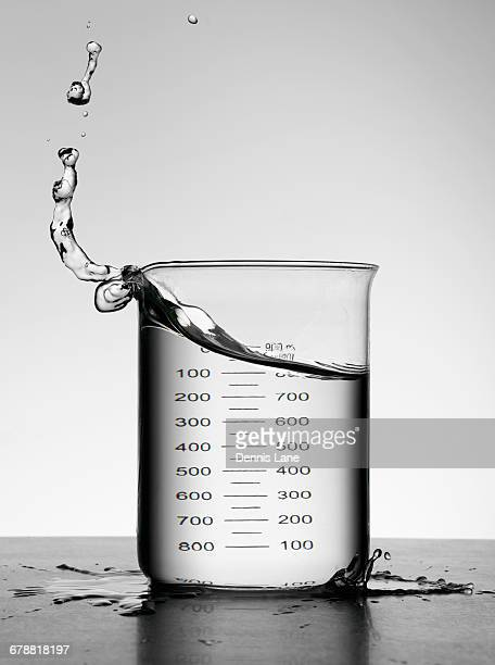 water splashing in milliliter flask - volume fluid capacity stock pictures, royalty-free photos & images
