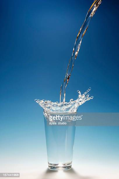 Water Splashing Into a Glass.