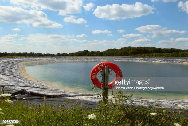 Water storage reservoir, Suffolk, UK.
