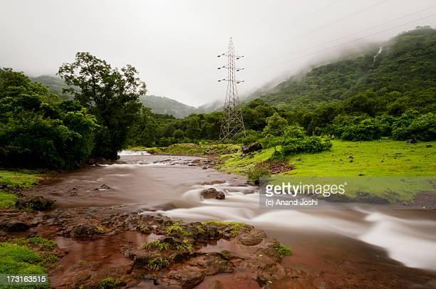 Water stream in monsoon