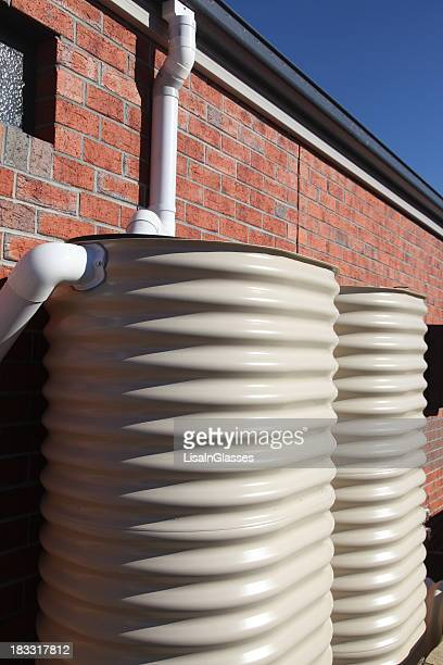 water tanks on a new home - water tower storage tank stock pictures, royalty-free photos & images