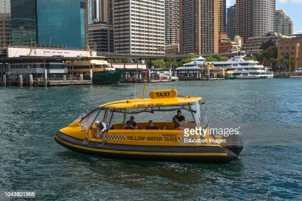 Water taxi at Circular Key, Sydney, Australia.