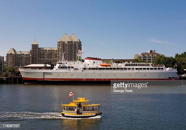 A water taxi ferries passengers around the inner harbour on July 2 2011 in Victoria British Columbia This coastal city located on the southern tip of...