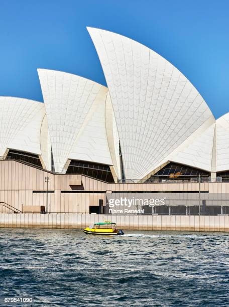 Water taxi passing the Sydney Opera House
