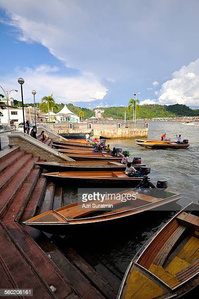 water taxi - bandar seri begawan stock photos and pictures