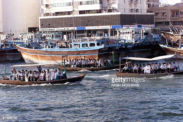 Water taxis ferry passengers across the Creek of Dubai 12 November 1999 Oil was discovered in the emirate of Dubai in 1966 and its first oil exports...