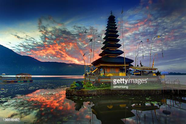 Water temple in bali , indonesia