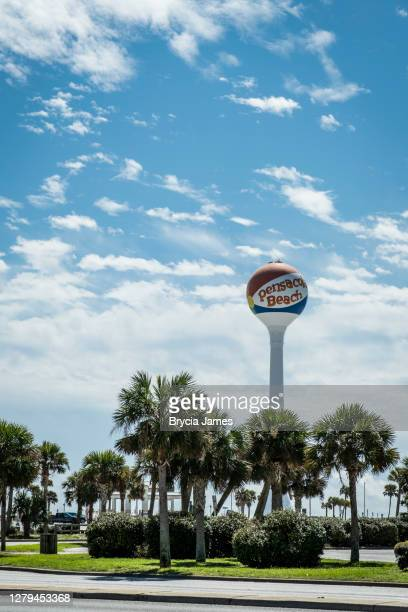 water tower at pensacola beach - brycia james stock pictures, royalty-free photos & images
