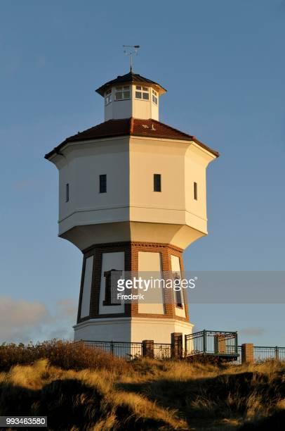 water tower, langeoog, lower saxony, germany - insel langeoog stock-fotos und bilder