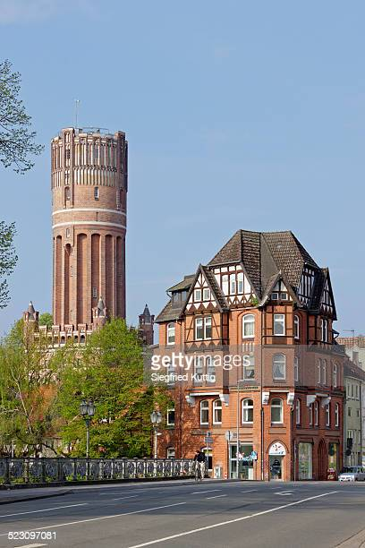 water tower, luneburg, lower saxony, germany - lüneburg stock photos and pictures