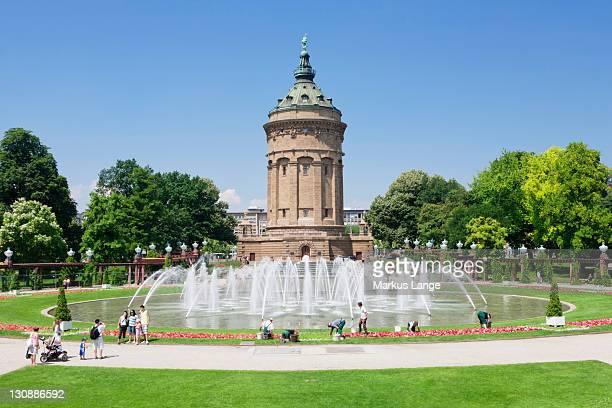 Water tower, Mannheim, Baden-Wuerttemberg, Germany, Europe