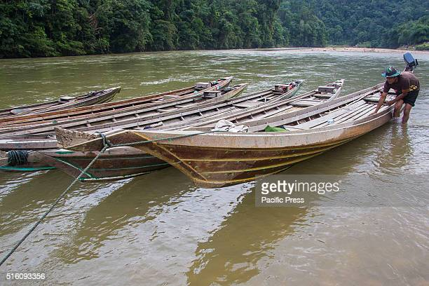 Water transportation mode that allows people to get to some remote village in Kampar Kiri Hulu Kampar Riau The boats are used to perform various...