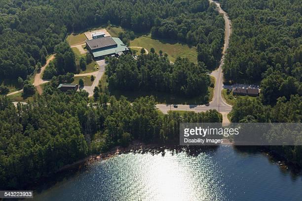 Water treatment facility near reservoir