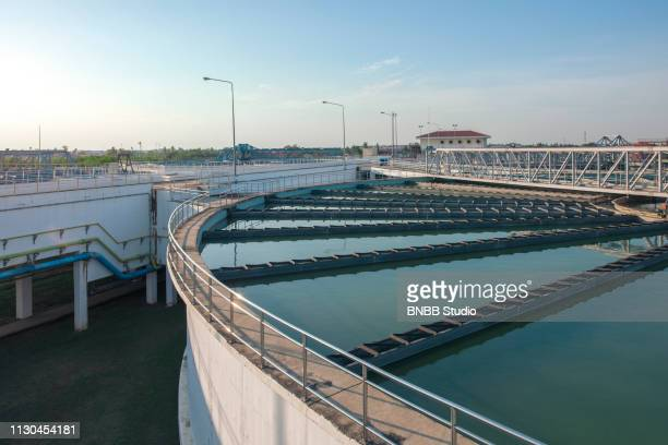 water treatment plant - sewer stock pictures, royalty-free photos & images