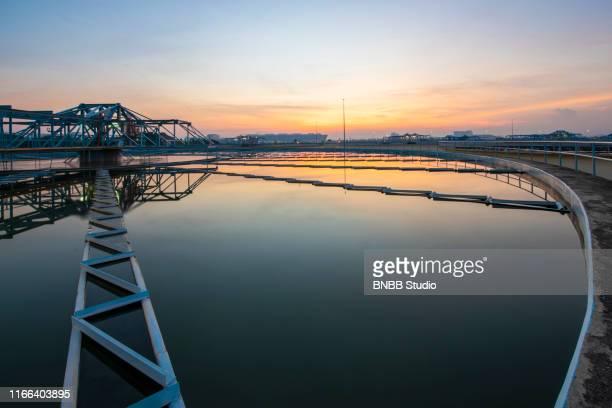 water treatment plant - águas residuais imagens e fotografias de stock