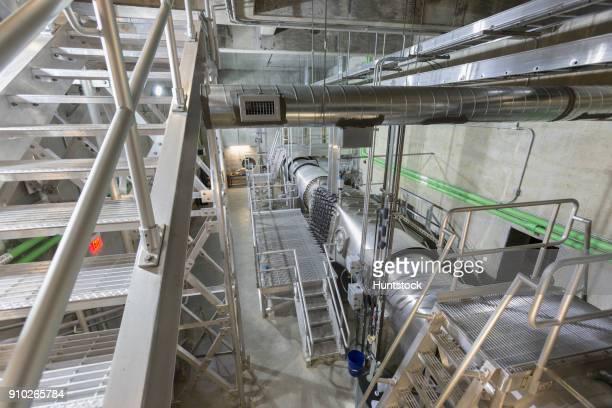 Water treatment plant ultraviolet ionization treatment room