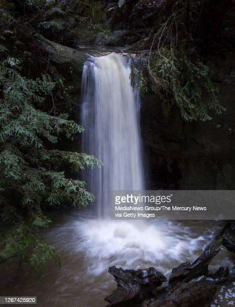 Water tumbles over Sempervirens Falls at Big Basin Redwoods State Park in Boulder Creek, Calif., on Friday, Jan. 13, 2017. Recent rains made for a...