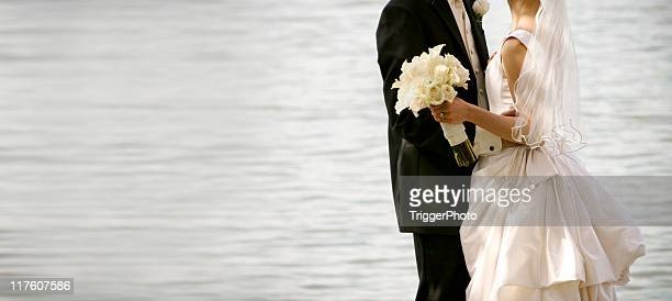 water wedding portraits - wedding reception stock pictures, royalty-free photos & images