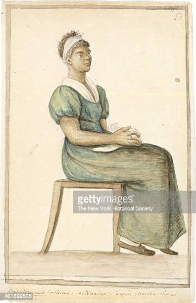 Watercolor depicts a portrait of an AfricanAmerican cook in 'ordinary' costume 19th or 20th century