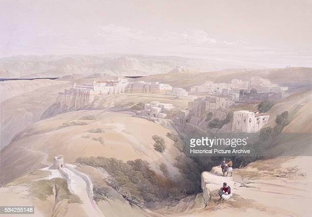 Watercolor of Bethlehem by David Roberts