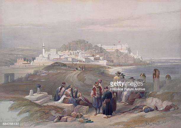 Watercolor of Jaffa Palestine by David Roberts