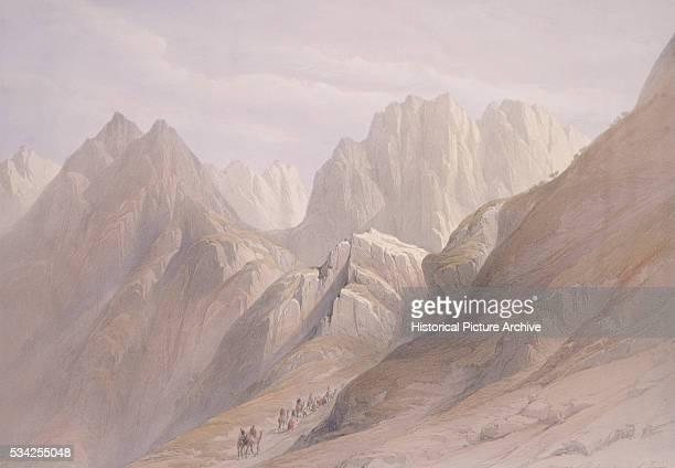 Watercolor of Mount Sinai by David Roberts