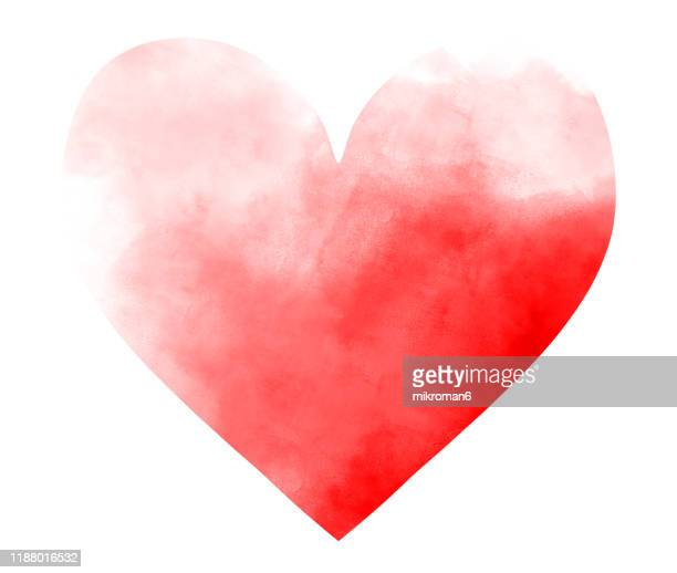 watercolor paint on paper mixed to create a watercolor effect illustration of a heart - logo stock pictures, royalty-free photos & images