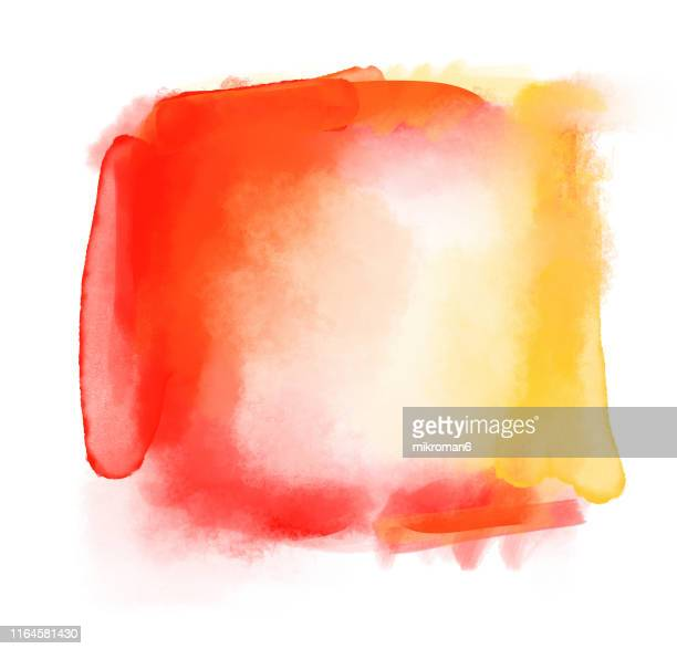 watercolor paint on paper mixed to create a watercolor effect - red tube top stock pictures, royalty-free photos & images