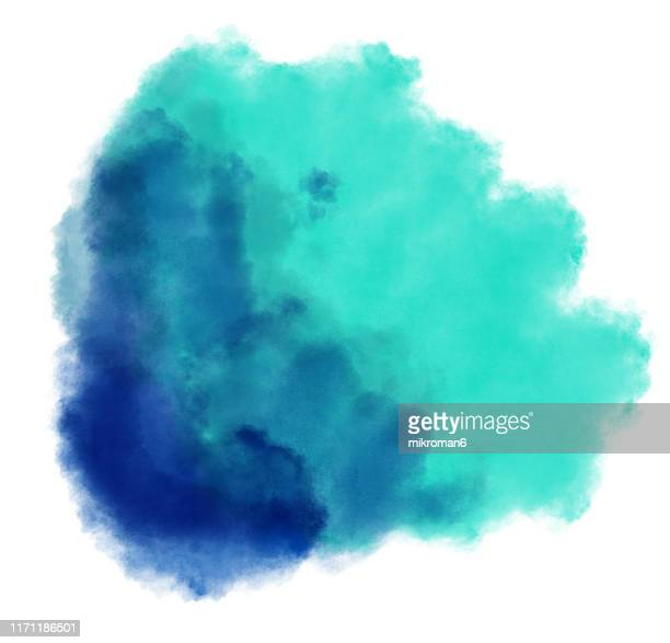 watercolor paint on paper mixed to create a watercolor effect illustration - splashing stock pictures, royalty-free photos & images