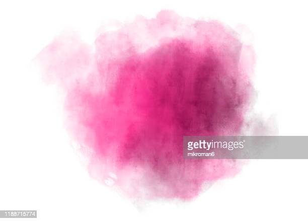 watercolor paint on paper mixed to create a watercolor effect illustration - pink tube photos et images de collection