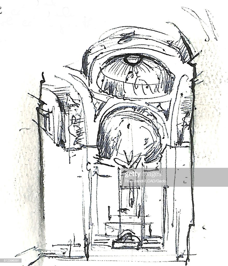 arc0001061 stock photos and pictures Laon Cathedral watercolor painting shows the interior of the royal chapel of st anthony of la florida madrid