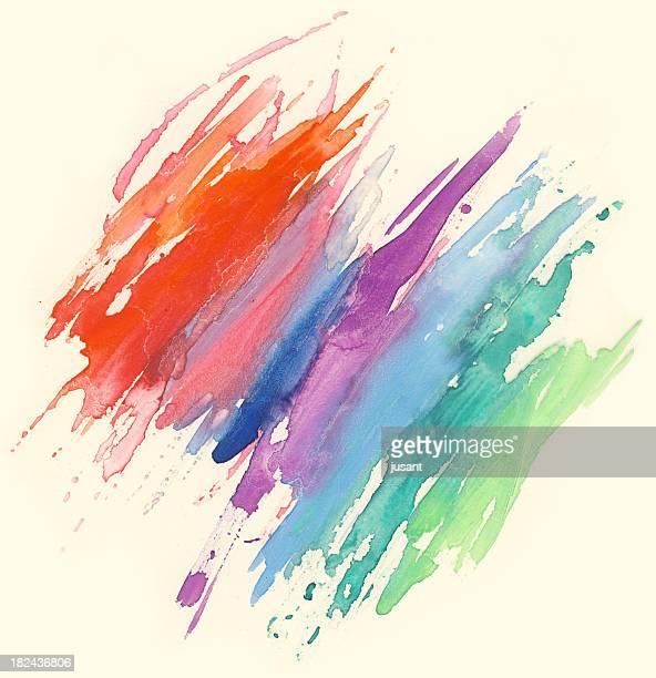 Aquarelle de peinture arc-en-ciel