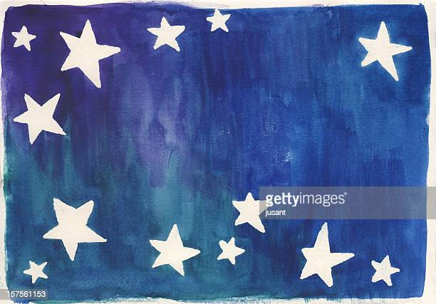 Watercolor star background