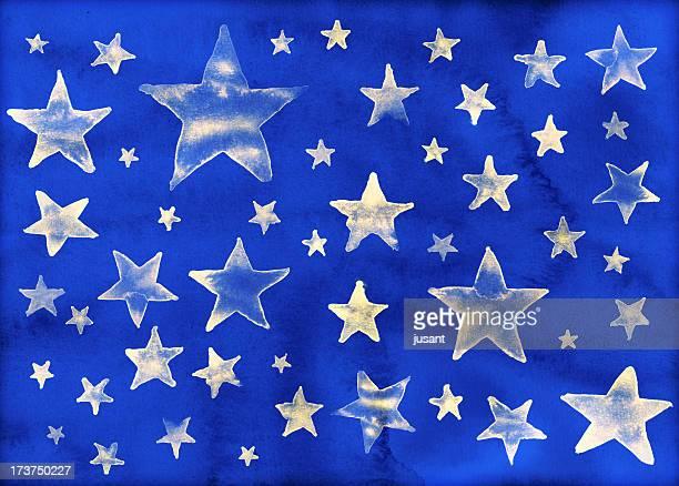 Aquarell Sterne Hintergrund, geeignet für Weihnachten