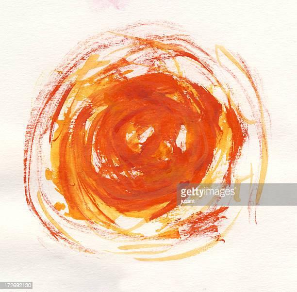 Watercolor sun