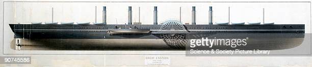 Watercolour drawing by John Scott Russell This famous steamship designed by Isambard Kingdom Brunel for the Eastern Steam Navigation Company was the...