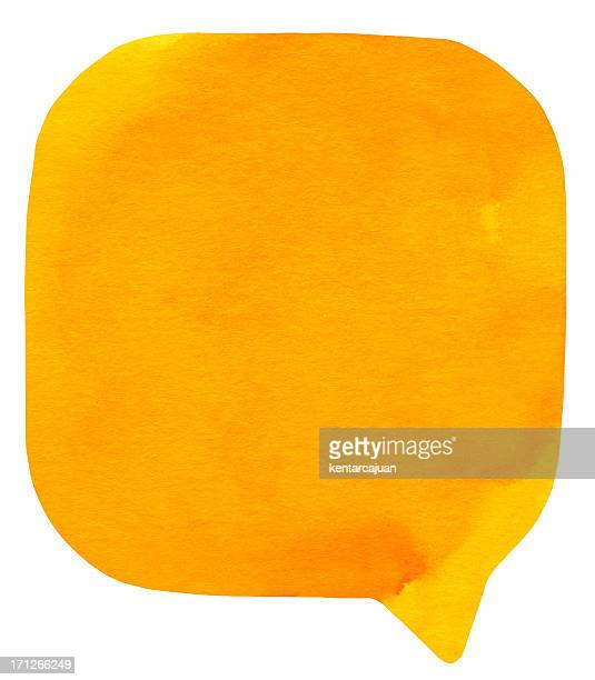 Watercolour Light Orange Speech Bubble