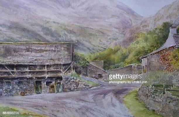 Watercolour  of  Farm  at  Coniston