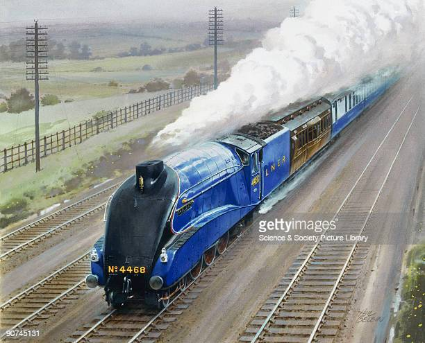 Watercolour painting by the Australian railway artist Phil Belbin The A4 Pacific class Mallard was designed by Sir Nigel Gresley the chief engineer...