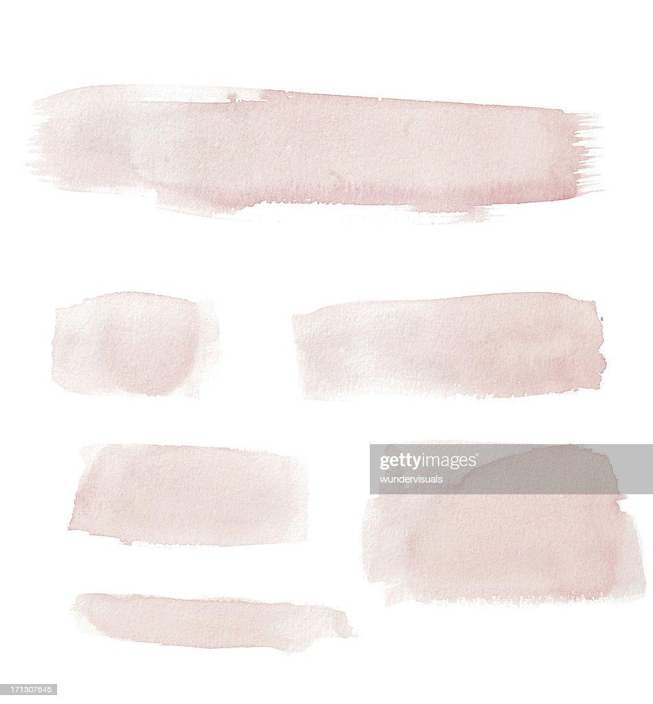 Watercolour Pink GEMALTES Knöpfen/Linien : Stock-Foto