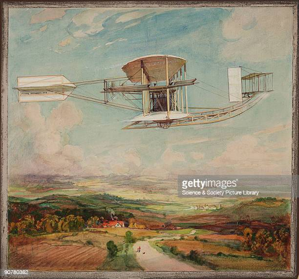 Watercolour showing the final form of the Short No 2 aircraft as flown by John MooreBrabazon on 25 March 1910 Short Brothers were founded in 1908...