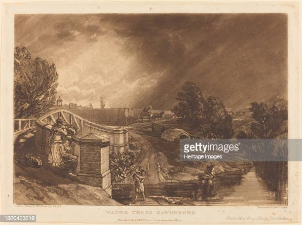 Watercress Gatherers, published 1819. Artist JMW Turner.