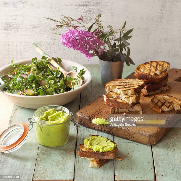 Watercress Salad and Sandwiches