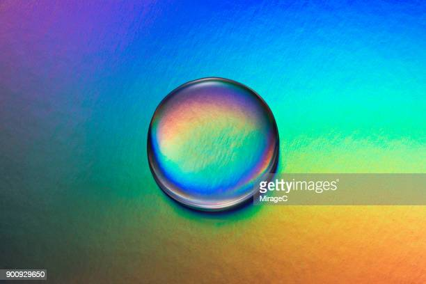 Waterdrop on Colorful Background
