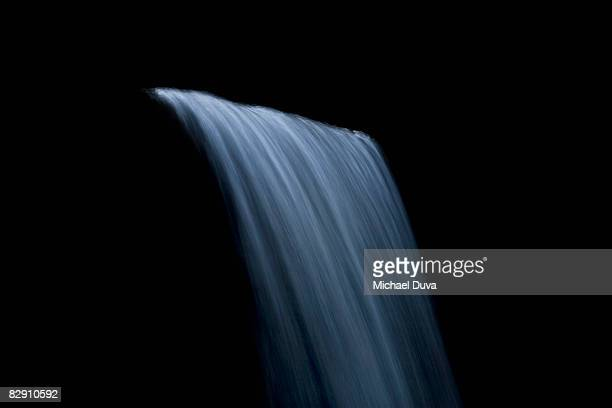 waterfall against black background
